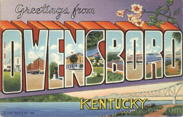 Greetings From Owensboro Kentucky Large Letter