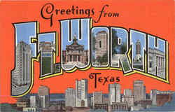 Greetings From Ft. Worth Postcard