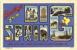 Greetings From Big Spring Postcard