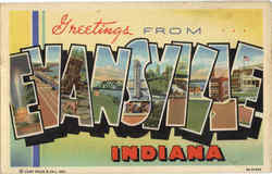 Greetings From Evansville Postcard