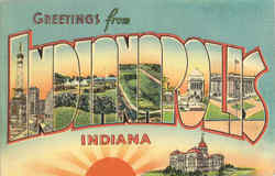 Greetings From Indianapolis Postcard