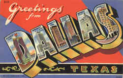 Greetings From Dallas Postcard
