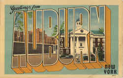 Greetings From Auburn Postcard