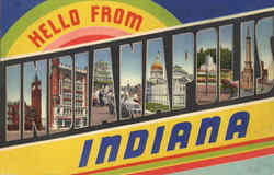 Hello From Indianapolis Postcard