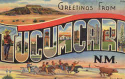 Greetings From Tucumcari Postcard