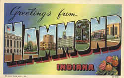 Greetings From Hammond Postcard