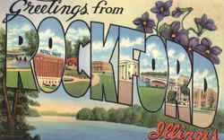 Greetings From Rockford Postcard