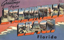 Greetings From Jacksonville Beach Postcard