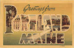 Greetings From Portland Postcard
