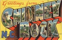 Greetings From Chimney Rock Postcard