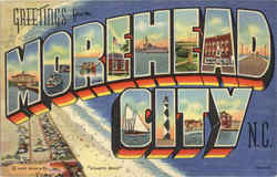 Greetings From Morehead City Postcard
