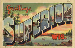 Greetings From Superior Postcard