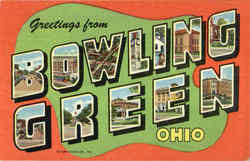 Greetings From Bowling Green Postcard
