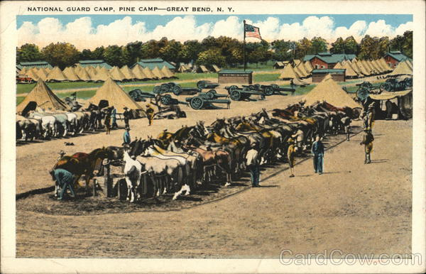 Natioanl Guard Camp, Pine Camp Great Bend New York