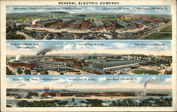 Views of Three General Electric Company Plants Schenectady New York