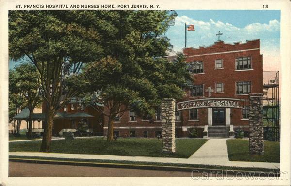 St. Francis Hospital and Nurses Home Port Jervis New York