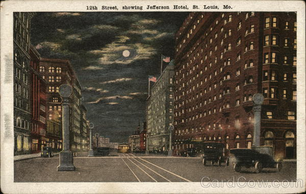 19th Street, showing Jefferson Hotel St. Louis Missouri