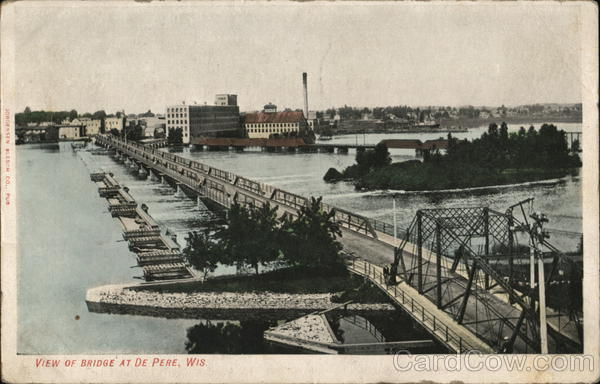 View of Bridge De Pere Wisconsin