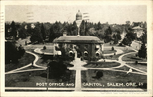 Post Office and Capitol Salem Oregon
