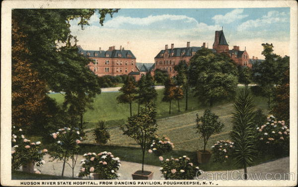 Hudson River State Hospital, From Dancing Pavilion Poughkeepsie New York