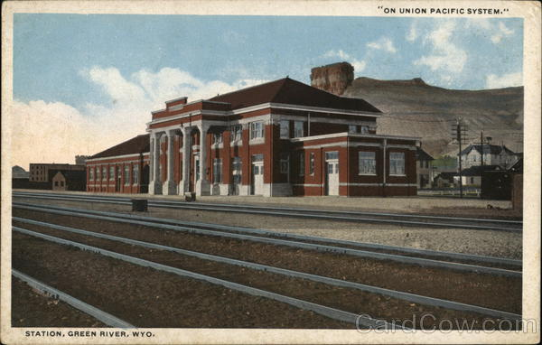 Station on Union Pacific System Green River Wyoming