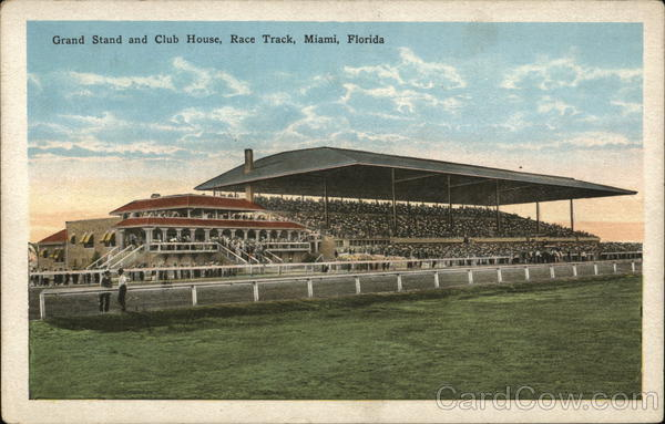 Grand Stand and Club House, Race Track Miami Florida
