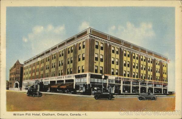 William Pitt Hotel Chatham ON Canada Ontario