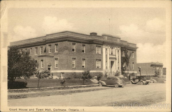 Court House and Town Hall Cochrane Canada Ontario