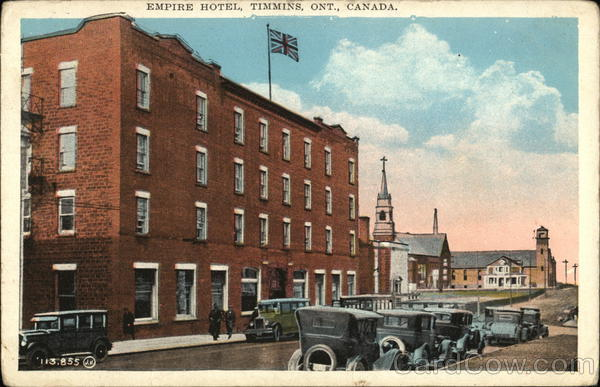 Timmins (ON) Canada  city pictures gallery : Empire Hotel Timmins, ON Canada Postcard