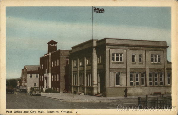 Post Office and City Hall Timmins Canada Ontario