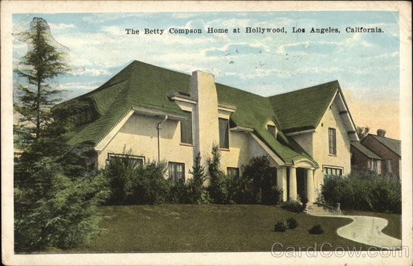 The Betty Compson Home at Hollywood Los Angeles California