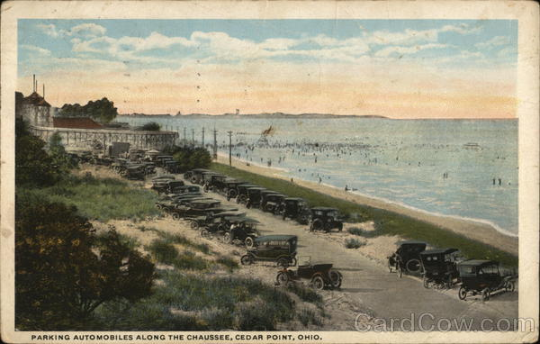 Parking Automobiles Along the Chaussee Cedar Point Ohio