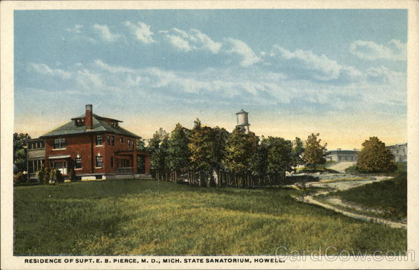 Residence of Supt. E.B. Pierce, M.D., Michigan State Sanitorium Howell