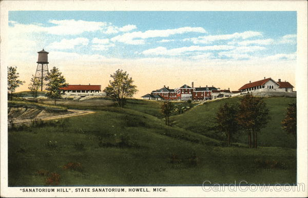 Sanatorium Hill, State Sanatorium Howell Michigan