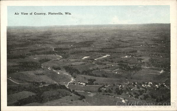 Airt View of Country Platteville Wisconsin