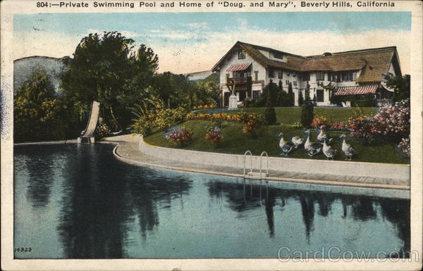 Private Swimming Pool, Home of Doug and Mary Beverly Hills California
