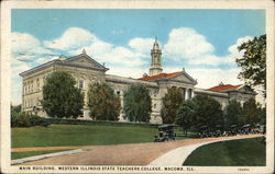 Main Building, Western Illinois State Teachers College Postcard