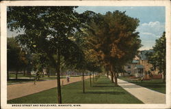 Broad Street and Boulevard Postcard