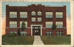Miller Avenue School Postcard