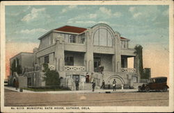 Municipal Bath House Postcard