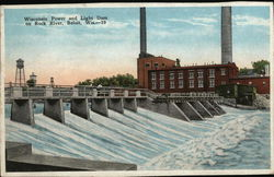 Wisconsin Power and Light Dam on Rock River