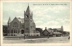 Library and C.M. & St. P. Depot