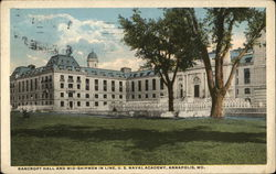 Bancroft Hall and Mid-Shipmen in Line, US Naval Academy