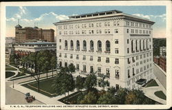 Y.M.C.A., Telephone Building and Detroit Athletic Club