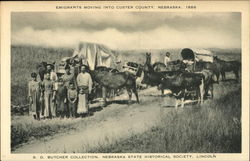 Emigrants Moving Into Custer County, Nebraska, 1886.