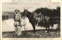 Cowboy, Foreman of the Watson Ranch 1888