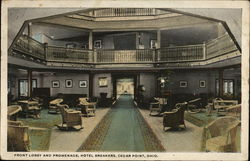 Front Lobby and Promenade, Hotel Breakers Postcard