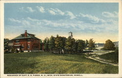 Residence of Supt. E.B. Pierce, M.D., Michigan State Sanitorium