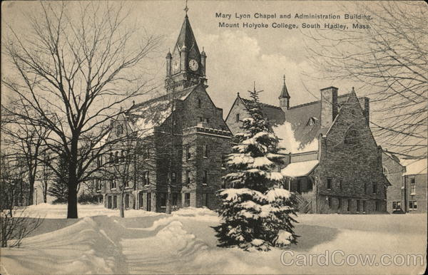 Mary Lyon Chapel and Administration Building, Mount Holyoke College South Hadley Massachusetts