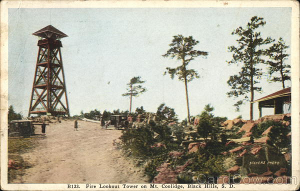 Fire Lookout Tower on Mt. Coolidge Black Hills South Dakota